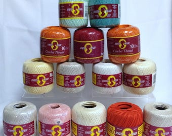 South Maid Crochet Cotton Mercerized Cotton Colorfast Colored Cotton for Tablecloths, Doilies, Fine Fiber Art Work, Finishing & Edging