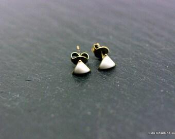 Earrings mini triangle earrings