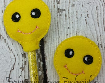 Happy Emoji Pencil Toppers - Party Favor - Classroom Prizes - Small Gift - Back to School