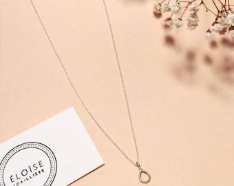 minimalist necklace, minimalist necklace, raindrop necklace, sterling silver necklace, drop necklace silver, simple necklace, silver necklace
