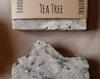 Cedarwood + Tea Tree - Handmade Hot Process Soap - All Natural