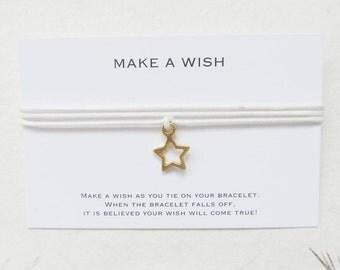 Wish bracelet, make a wish bracelet, star bracelet, W67