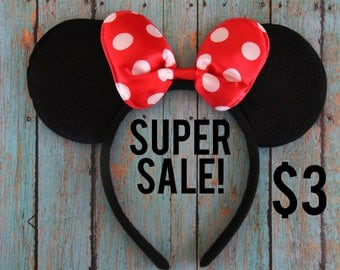 Minnie Mouse Ears, Minnie Mouse Headband, Minnie Mouse Party, Minnie Mouse, Disney Ears, Disneyland Ears, Disney Accessories, Disney