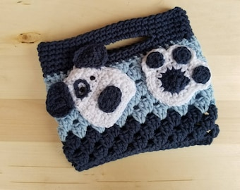 Dog Purse, Valentines Day Gift for Kids, Gift for Girls, Crochet Purse, Dog Lover Gift, Crochet Bags and Purses, Dog Bag, Best Selling Items