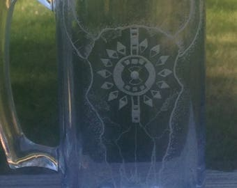 Skull Clear Glass Mug