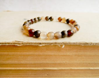 Beauty gift Agate Bracelet Agate Jewelry Protection Bracelet Energy Bracelet Gemstone Bracelet Yoga Bracelet Meditation Gift For Mom jewelry