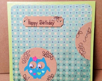 Hand made kids birthday card