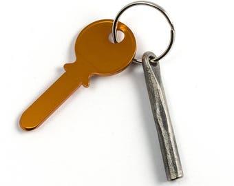 Wrought iron keychain - hand forged gift - blacksmith keychain