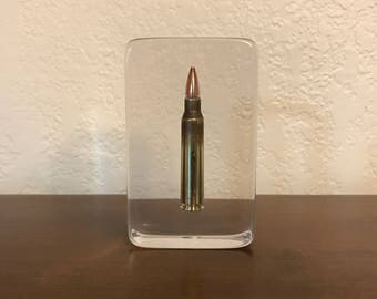 Bullet Paperweight - U.S. Mil-Spec 5.56mm - A Must Have For Any Gun Enthusiast, Military/LEO Or Anyone For That Matter - Man Or Woman!