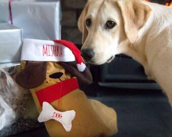 Personalised Dog Christmas Stocking, Personalized Dog Stocking, Dog Gift, Dog Treats Christmas, Dog Lovers, Pets, Personalised Dog Gift