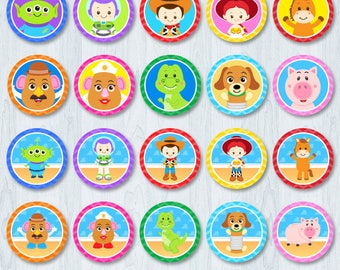 Toy Story Cupcake Toppers, Toy Story Cupcake Topper, Toy Story  Cupcake Wrappers