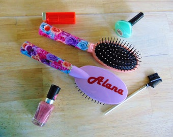 Personalized hair brushes