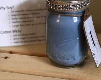 Scented Candle, Mason Jar Soy Candle - 16 oz. - Party favor, Gift for Her, Natural Soy Wax,  Personalized Candles, Birthday Gift,  Handmade