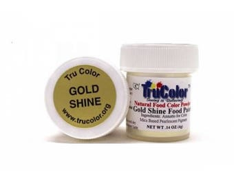 Gold Shine Food Paint By TruColor .21 oz (6g)