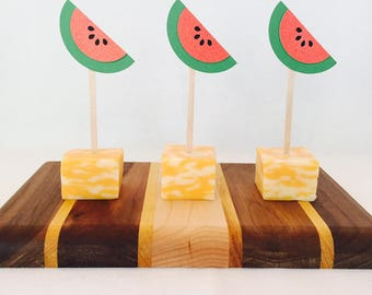 15 Watermelon Appetizer Picks - Tutti Frutti - Two - One in a Melon - First Birthday - Fruit Theme - Summer - Pool Party - Food Picks