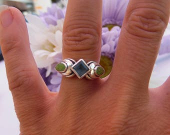 Sterling Silver Ring 925 Silver Jewelry size 6.5 Statement Ring