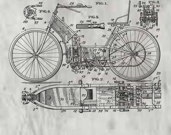 Motor Cycle Patent #678963 dated July 23, 1901.