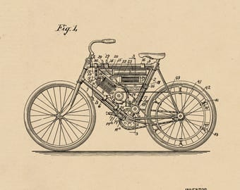 Motor cycle Patent# 686,284 dated November 12, 1901.