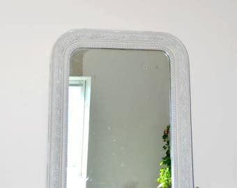 Mirror old Louis Philippe, weathered gray, miror.