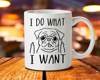 Pug Mug, Cute Pug Gifts, Pug Christmas Gifts, Pug Gifts For Girls, Pug Lover Gift, Pug Stickers, Pug Wall Art Prints, Pug Birthday Gifts