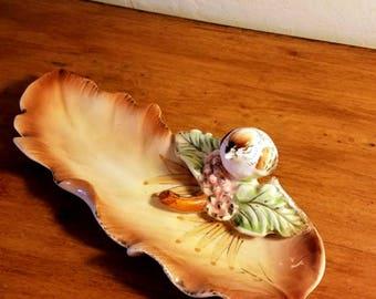 Vintage Ucagco Bird Trinket Dish Dresser Tray