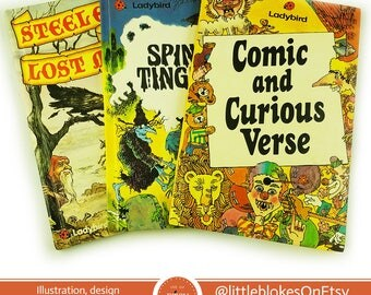 Comic & Curious Verse, Spine Tinglers and Steeleye and the Lost Magic (Choose Your Own Adventure) Ladybird Set