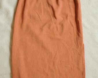 Textured Pink Pencil Skirt