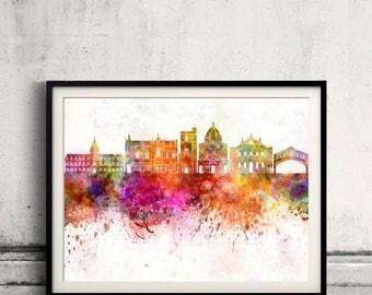 Oxford V2 skyline in watercolor background Poster Digital Wall art Illustration Print Art Decorative  - SKU 2754