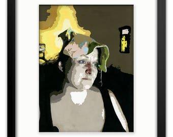 "Acrylic on Bristol - ""Maiden""; Original Artwork by Robert Bancroft"