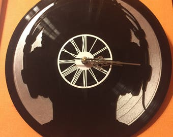 Clock vinyl two layered black & color / / DJ IBIZA
