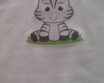 Baby Vest, Zebra Baby Vest, Zebra Gift, Baby Gift, New Mum Gift, Wild Animal Clothing, Newborn to 36 months