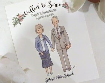 Custom Senior Missionary Couple Portrait