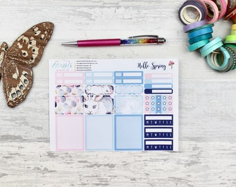 Hello Spring Add On Sheet | planner stickers, habit trackers, checklists, half boxes, full boxes