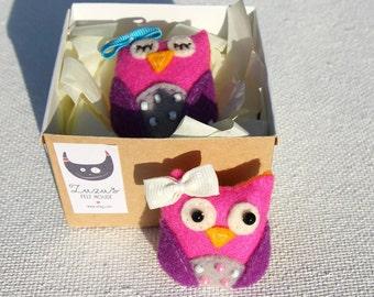 Cute Owl Brooch   Owl Pins   Felt Owls   Mini Owl For Kids   Little Sleeping Owl Pin   Kids Brooches   Handmade Owl   Woodland Brooch Owl