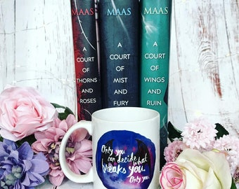 Resultado de imagen de a court of thorns and roses mug