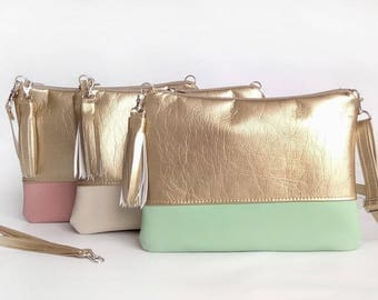 Chic Purse Gift for her Crossbody bags Gold Girlfriend gift Hadbags Clutch purse Bags For women Metallic