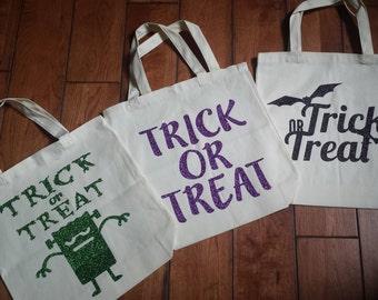 Trick or Treat Bag, Trick or Treat Tote, Halloween Bag, Halloween Candy Bag, Halloween, Kids Tote, Trick or Treating, Tote Bag, Candy Tote