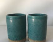 Set of Two Handmade Ceramic Cups/Tumblers