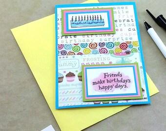 Birthday Greeting Card, Birthday Card, Handmade Birthday Card, Happy Birthday Card, Blank Greeting Card, Personalized Happy Birthday Card