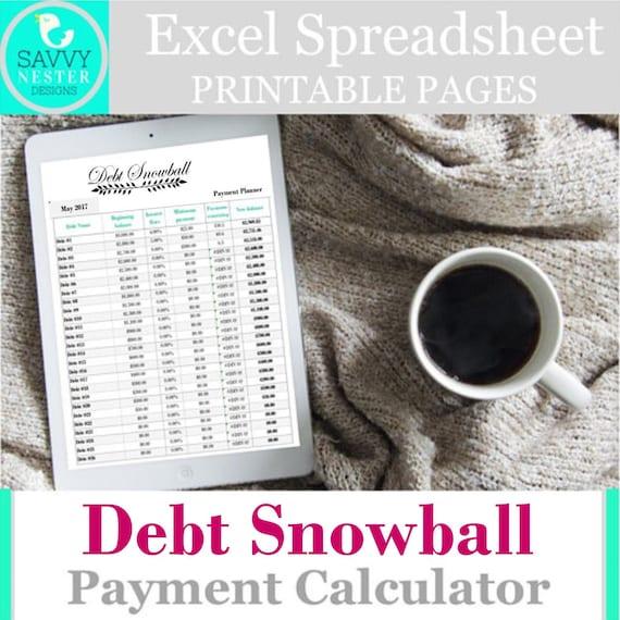 excel debt snowball