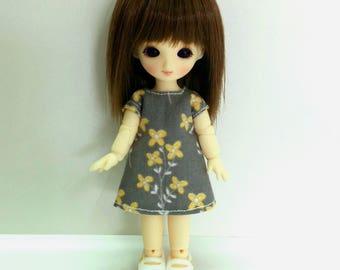 Gray Dress for Brownie/Obitsu11cm
