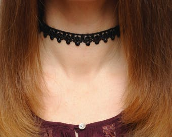 Black choker Lace choker Black lace Choker necklace Lace necklace Boho necklace Boho choker Goth choker Victorian choker gift for girlfriend