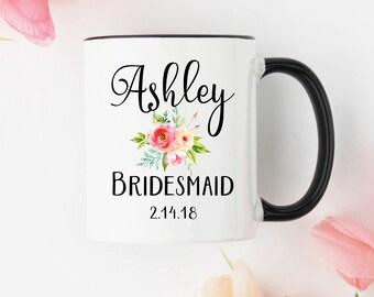 Bridesmaid mug, bridesmaid coffee mug, wedding mug, maid of honor mug, bridal mug, bridesmaid gift, bridesmaids gift, wedding gift, custom