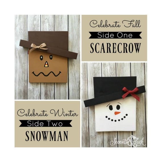 Items similar to diy craft kit reversible scarecrow for Scarecrow home decorations co ltd