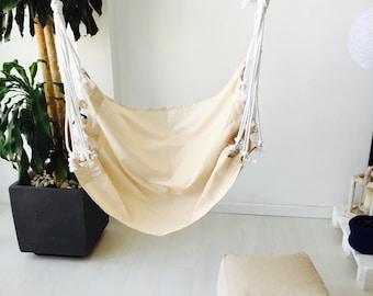 """Hammock hanging chair - Hanging chair - Hammock chair - Hanging chairs - Hanging hammock chair nordic style - HAMMOCK (40""""- 100 cms.)"""