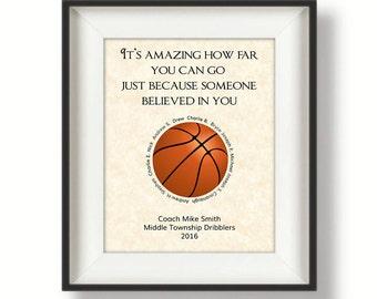 basketball coach gift gifts for coaches basketball coach