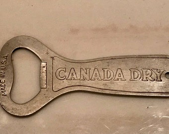 1970 Era Canada Dry Ginger Ale Bottle Opener Church Key Made in USA