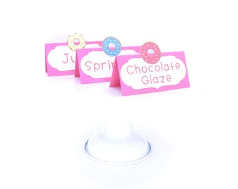 Donut Food Tents - Donut Table Tents - Donut Place Cards - Donut Themed Party - Donut Birthday Decorations - Doughnut Bar Sign