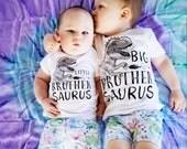 Sibling Shirts, Dinosaur Shirts, T-Rex Shirts, Big Brother Saurus, Brother Saurus, Dinosaur matching shirts, Dinosaur Pregnancy Announcement