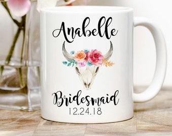 Bridesmaid Mug, Bridesmaid Git, Personalized Bridesmaid, Gift For Bridesmaid, Personalized Mug, Custom Bridesmaid Gift, Bridal Party